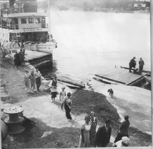 Kanholmen vid bryggan 1936